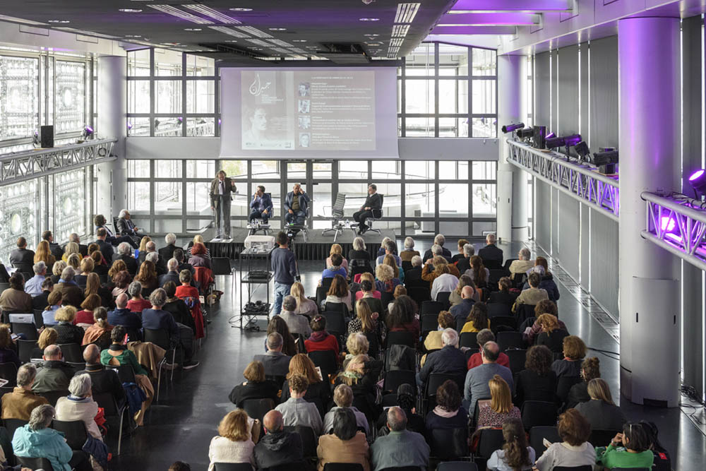 The audience at the Institut du Monde Aarbe