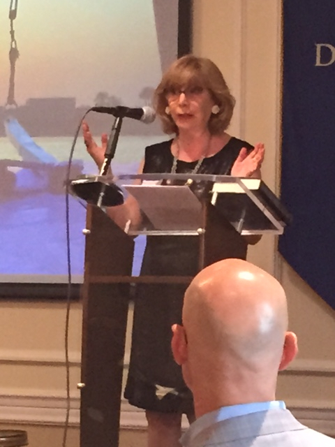 Addressing the Women's National Democratic Club