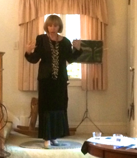 May presenting her book at the Critchley residence