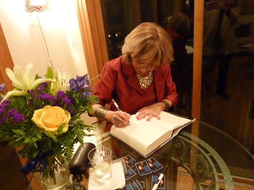 Ramzi Rihani Residence   The author signing her books