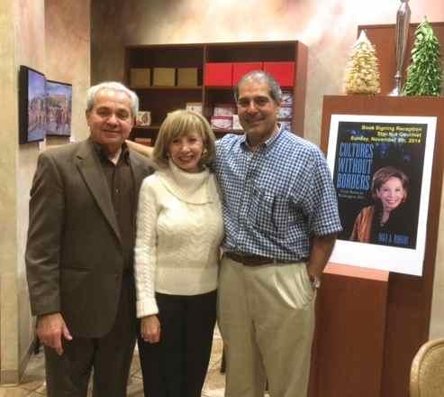 Flanking the author are her husband Zuheir (L) and StarNut proprietor Joe Shehadeh
