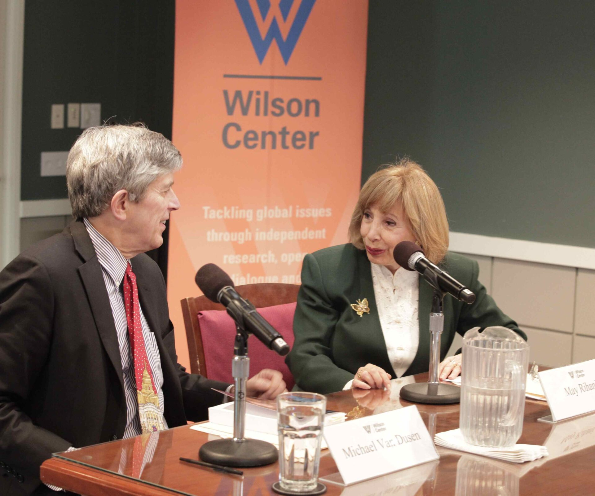 Dr. Michael Van Dusen, former Executive VP and current Senior Advisor at the Center, introduced May Rihani