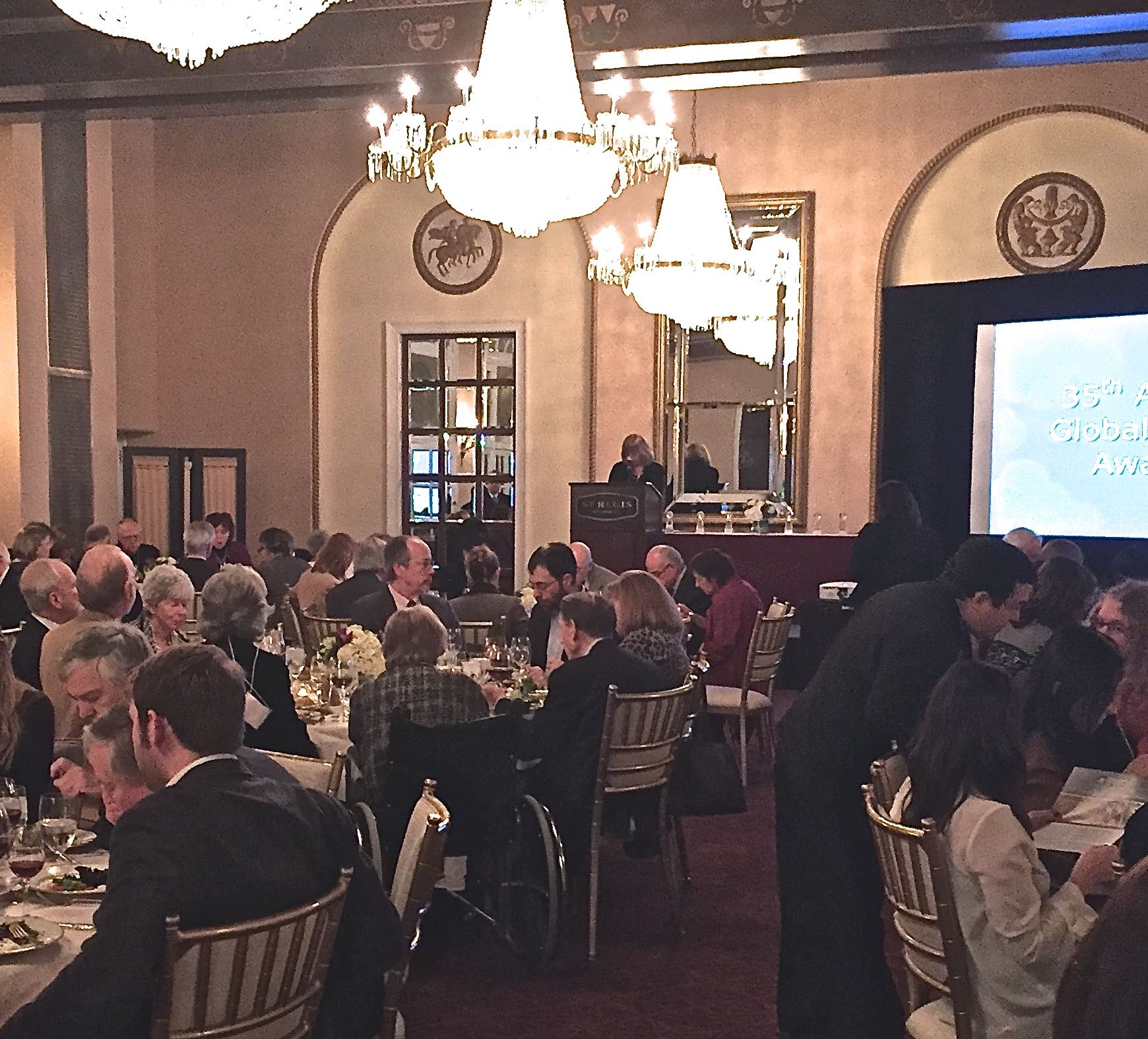Speaking at the Population Institute's Gala Global Media Awards dinner