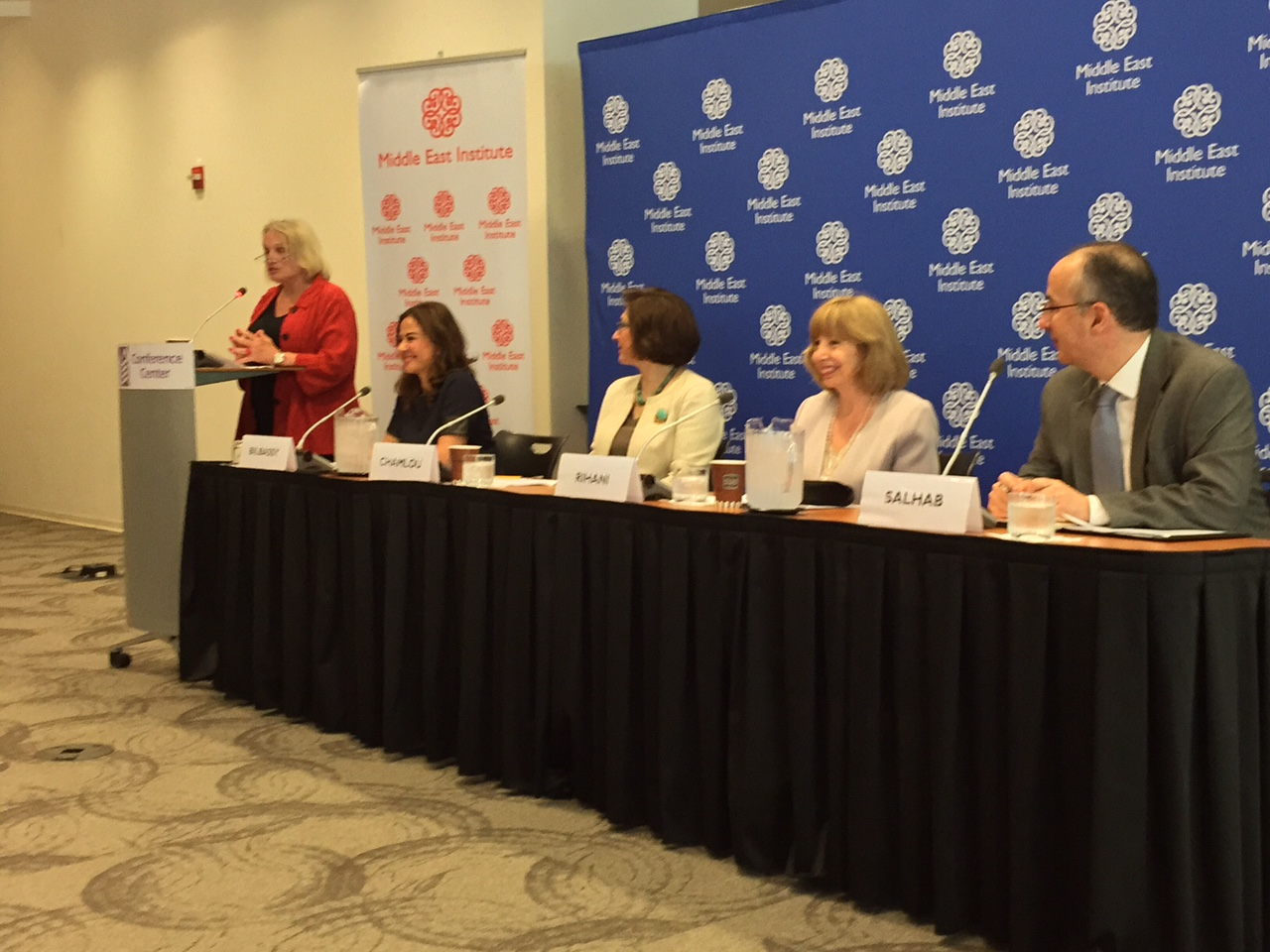 The MEI Panel was introduced by Amb. Wendy Chamberlin